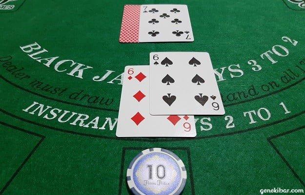 ディーラーのアップカードは7でプレイヤーは6+6で12