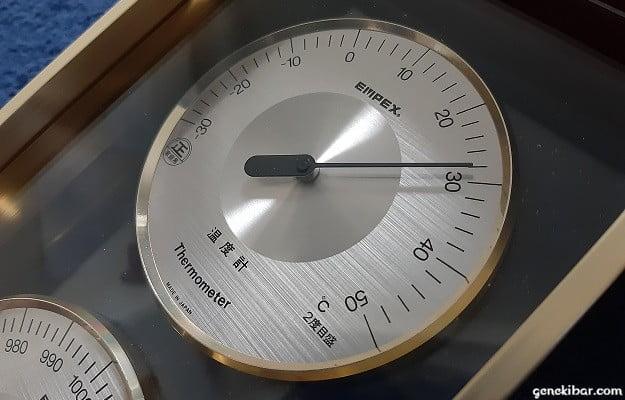 28度になった室内の温度計