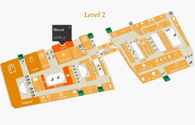 ムスタファセンターの案内図