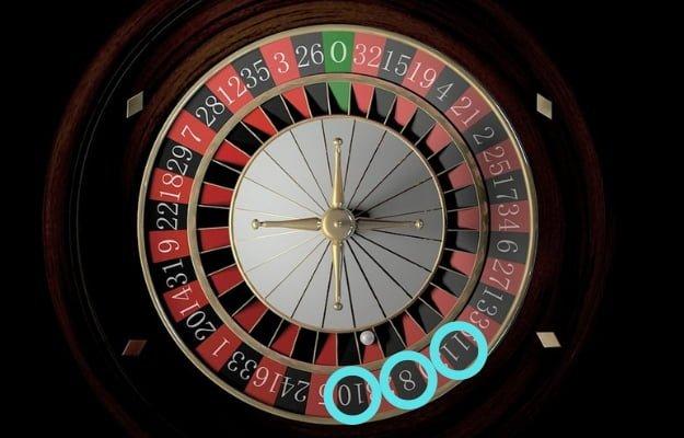ルーレット盤で偏りのある8,10,11の数字
