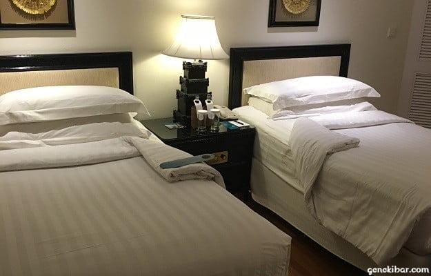 インターコンチネンタルバリリゾートの客室内ベッド