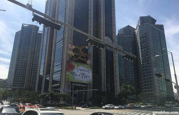 ソウル駅周辺の高層ビル