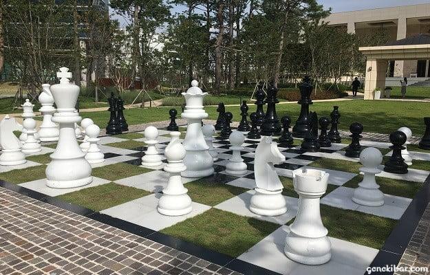 パラダイスシティ庭園のチェス盤