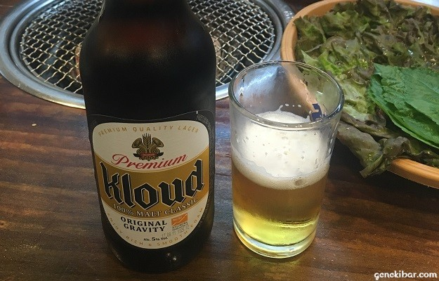 韓国焼き肉店ソラボルのビール「クラウド」