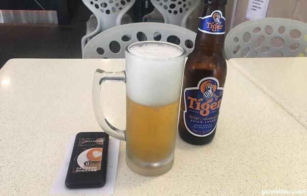 Beaver's cafeのタイガービール