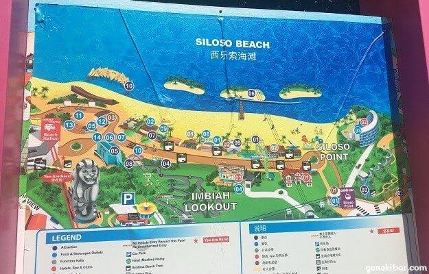 シロソビーチの地図