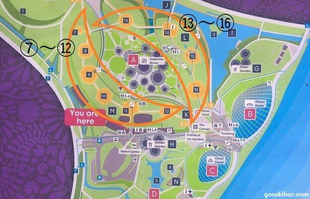 ヘリテージガーデンズとワールドオブプランツの地図