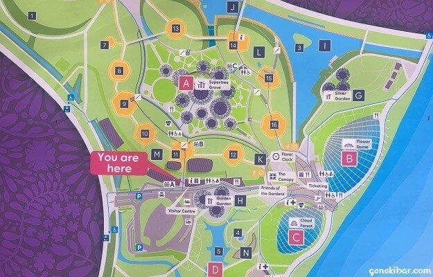 ガーデンズバイザベイの地図