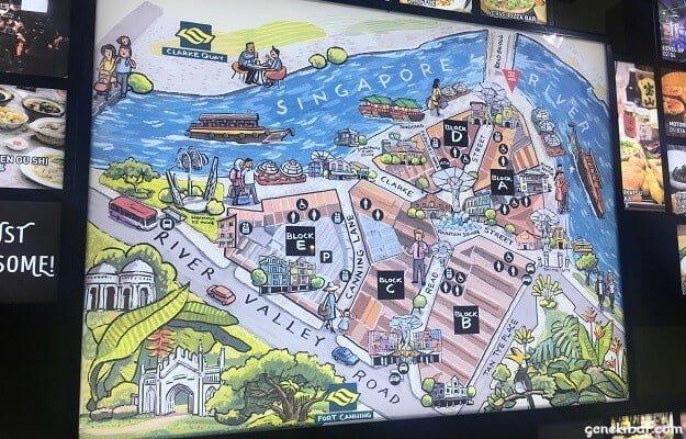 クラークキーの地図
