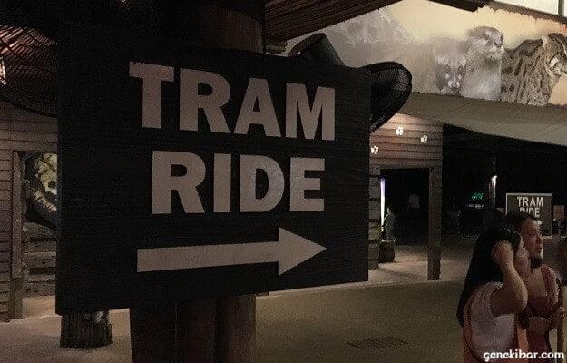 ナイトサファリのトラム乗り場