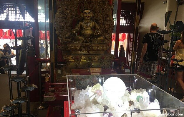 佛牙寺の黄財神像