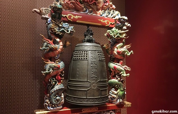 佛牙寺の鐘と龍の彫刻