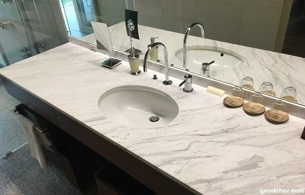 箱根ハイランドホテル、森のレジデンスの洗面台