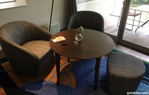 箱根ハイランドホテル、森のレジデンスのソファー