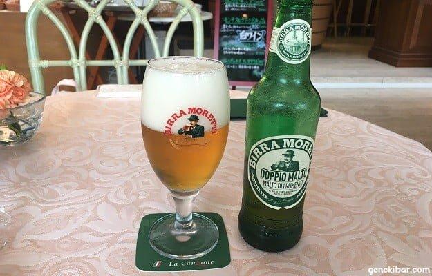 箱根ガラスの森美術館のレストランで注文したビール