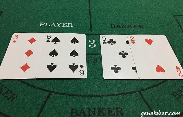 バカラでプレイヤーが9、バンカーが7