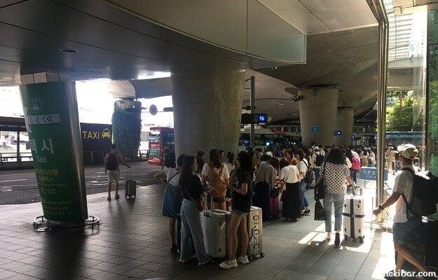 仁川空港のバス乗り場