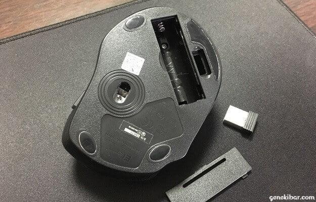 Qtuoワイヤレスマウスの電池カバー