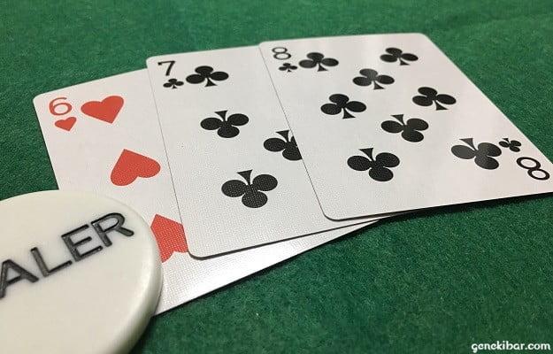 スリーカードポーカー、ディーラーのストレート