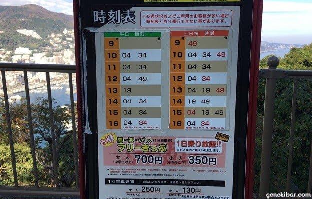熱海城バス停時刻表