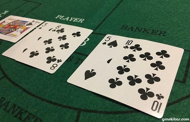 PLAYERは1、BANKERは5