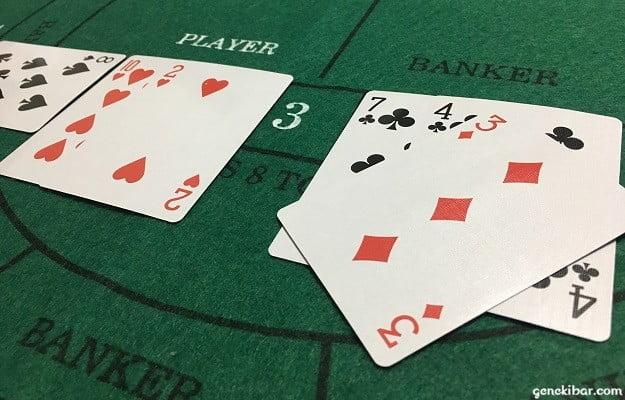 PLAYERは2、BANKERは4