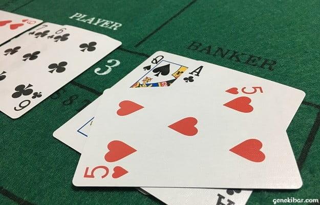 PLAYERは2でBANKERは6