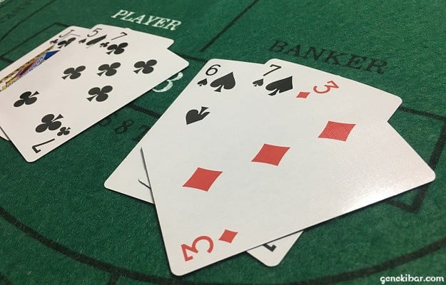 PLAYER「2」、BANKER「6」でBANKER勝利