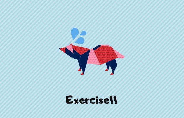 運動をする