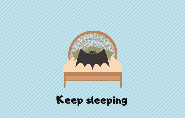 ベッドで寝る