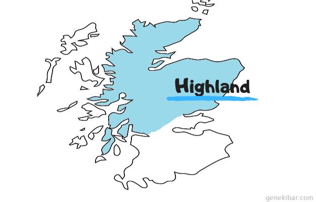 スコットランドのハイランド地域
