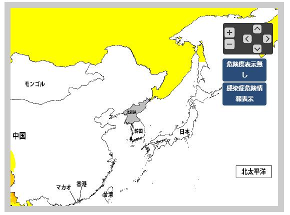 韓国の危険地図
